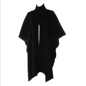 COS black wool turtleneck poncho sweater top